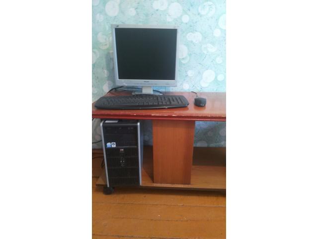 Компьютер hp В комплекте: монитор,клавиатура,мышь