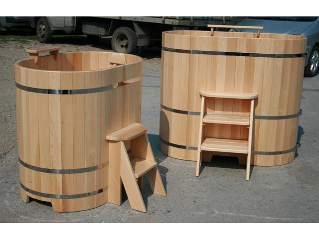 Купели для бани из дерева