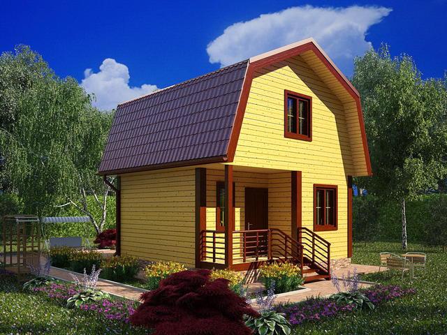 Дом из бруса 150х150, 6х6м