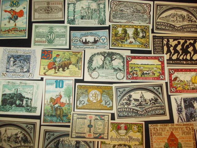 В продаже подлинные платежные нотгельды Германии и Австрии