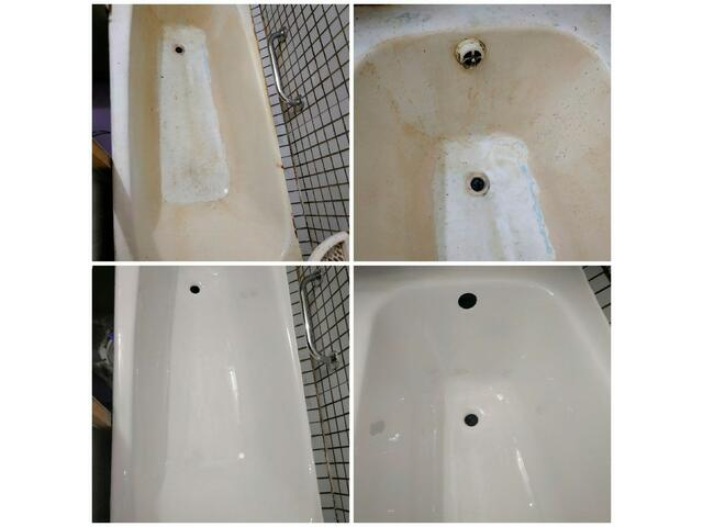 Восстановление ванн жидким акрилом, эмалью. Работаем с 2005