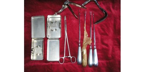 Медицинские наборы для гинекологии.