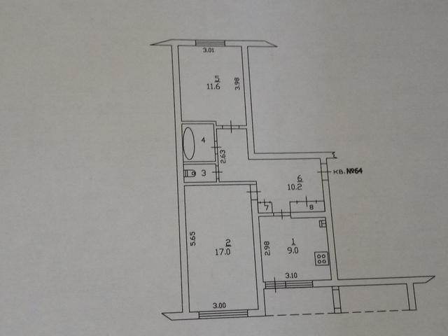 комнату 17 м 2 и 3\4 доли в 2-х комн. кв-ре в  г. Лакинске